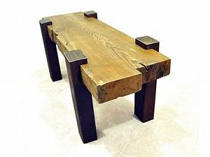 hand made reclaimed beam coffee table by drew lambert With reclaimed beam coffee table