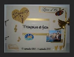 Cadeau Noce D Or : livre d 39 or de noce d 39 or francoise et jean l 39 atelier de lulu ~ Teatrodelosmanantiales.com Idées de Décoration