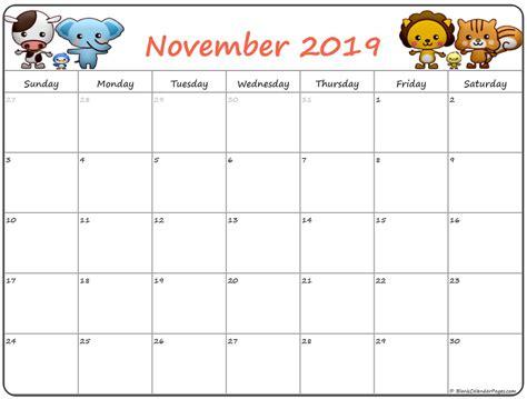 cute november  calendar  kids november calendar