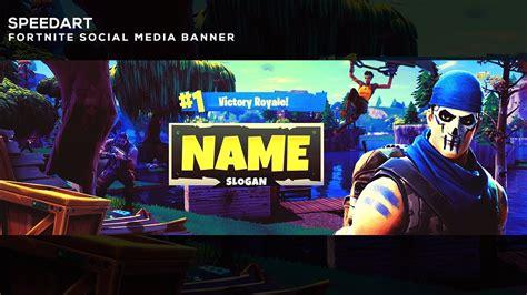 fortnite battle royal twitter banner speedart psd