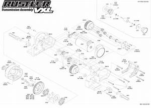 Exploded View  Traxxas Rustler Vxl 1 10