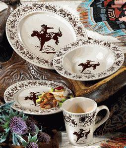 bucking bronco dinnerware   cowgirls tableill