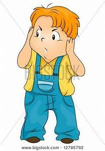 Annoyed Child Covering His Ears - Vector & Photo | Bigstock