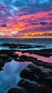 Colorful Beach Sunset Wallpaper