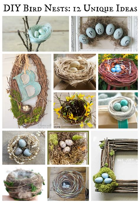 diy bird nests  unique ideas deja vue designs