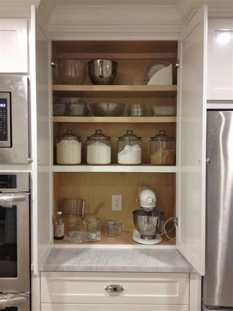 Built In Small Appliance Cabinet Design Ideas