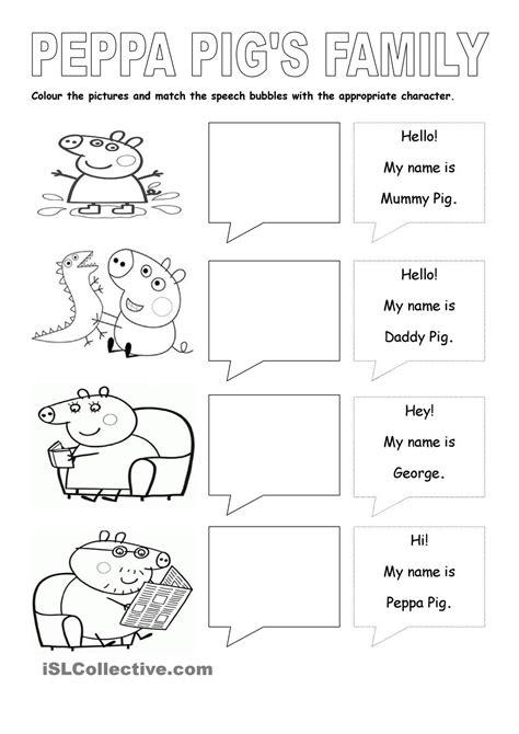 peppa pigs family english  children pinterest