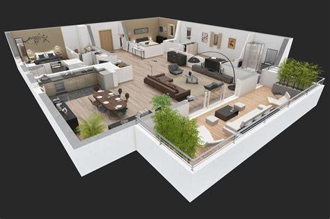 kumpulan contoh denah  desain interior rumah