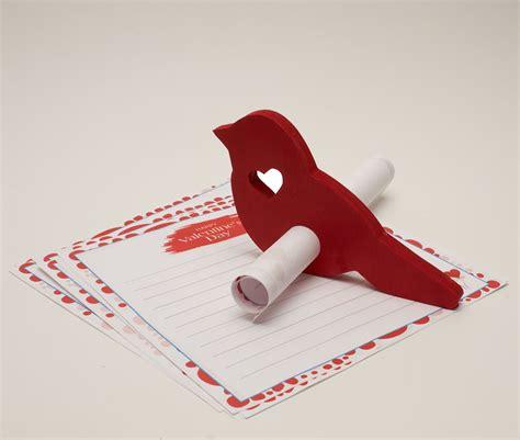 wood valentine love bird messenger cutout