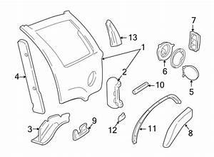 Chevrolet Blazer Quarter Panel Extension  Upper  Lower   2
