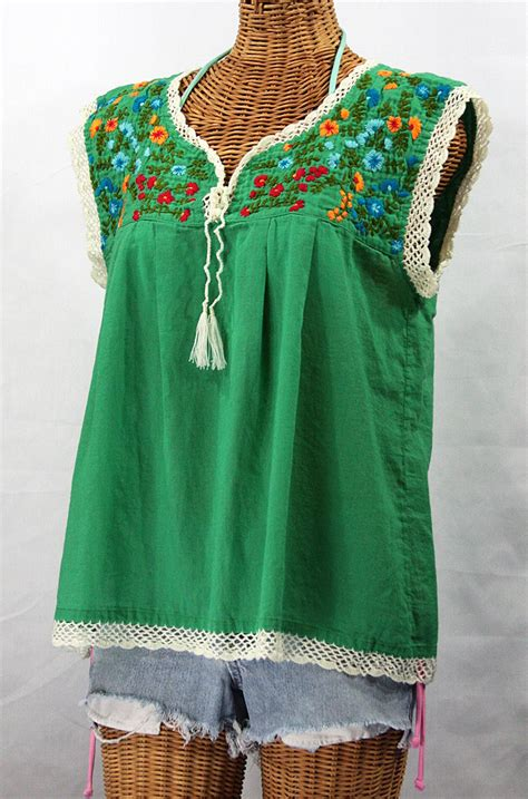 embroidered peasant blouse quot la marbrisa quot embroidered style peasant blouse top