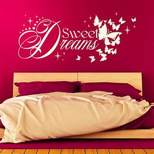 Wandtattoo Sweet Dreams : wandtattoo sweet dreams gute nacht schlaf gut spruch schlafzimmer ~ Whattoseeinmadrid.com Haus und Dekorationen