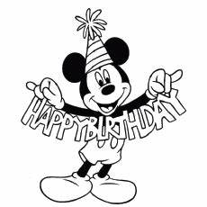 Mickey Mouse 1st Birthday Coloring Pages Opticanovosti