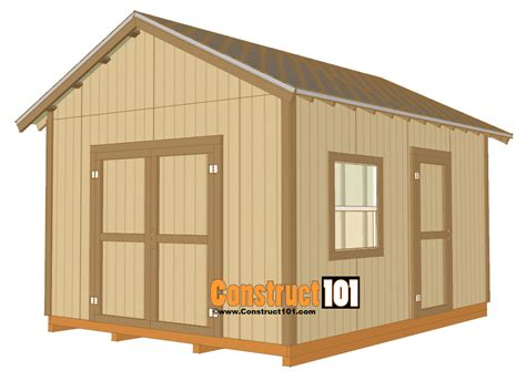 shed plans  drawings material list