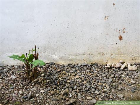 zen rake garden wikihow step steps