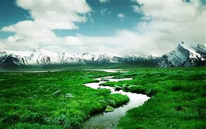 Flow Water Desktop Snow Meadow Mountains Wallpapers13