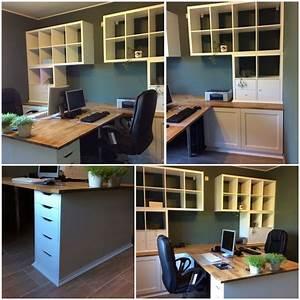 Bureau Plan De Travail : notre bureau diy partir de meubles ikea besta kallax alex plan de travail hammarp desk ~ Preciouscoupons.com Idées de Décoration