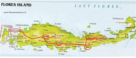 map  flores route destination flores expedition tours