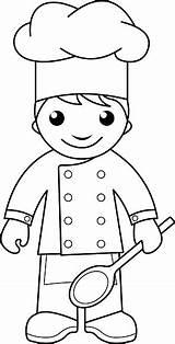 Coloring Cook Pages Chef Cooking Colouring Vector Outline Dibujos Para Chefs Kitchen Colorear Illustration Google Tela Carpintero Herramientas Buscar Con sketch template