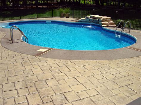 Stamped Concrete Pool Deck Yelp