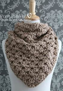 Crochet Pattern - Triangle Scarf Pattern