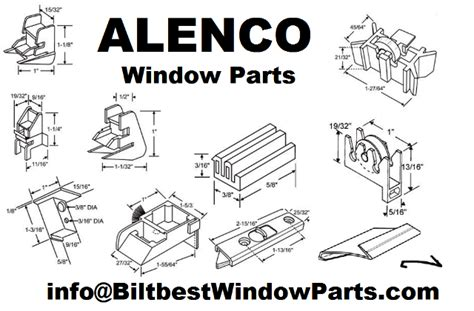 alenco window parts brass wheel slider glider roller assembly biltbest window parts