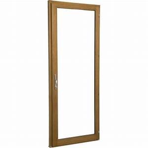 porte fenetre bois 1 vantail ouvrant a la francaise h205 With porte fenetre 1 vantail