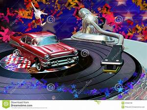 Classic rock party stock illustration. Image of radio ...