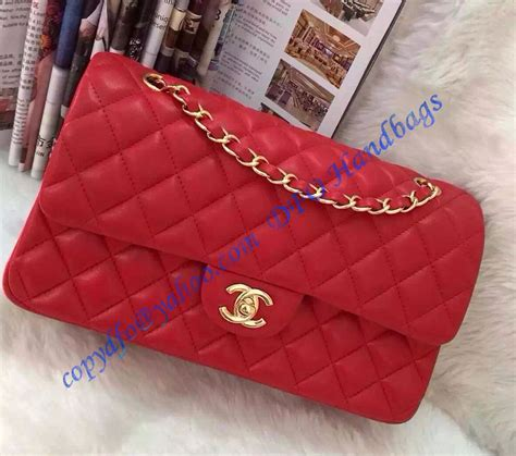 chanel small classic flap bag  red lambskin  golden hardware luxtime dfo handbags