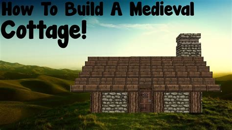 minecraft tutorial   build  medieval small cottage