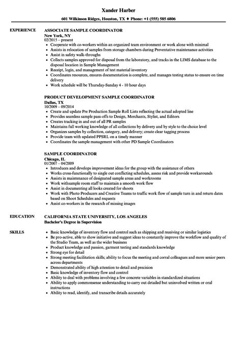 Coordinator Resume by Sle Coordinator Resume Sles Velvet
