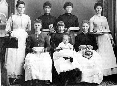 photograph   group  household servants   early