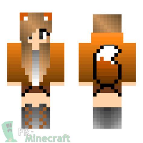 minecraft skin minecraft fille pull renard