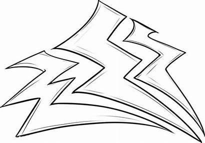 Lightning Bolt Coloring Lighting Pages Storm Thunder