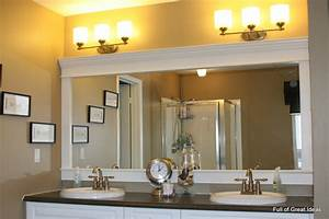 full of great ideas how to upgrade your builder grade With molding around mirror bathroom