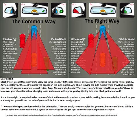 adjust car mirrors  remove  blind spot nifty tips tricks ideas pinterest