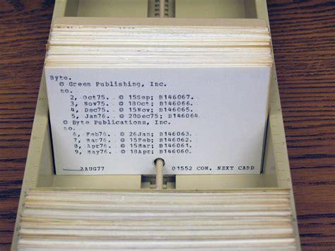 library index card byte magazine
