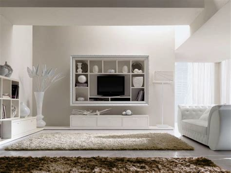 Beautiful Wall Mount Tv Shelves And Cabinet For Cozy White