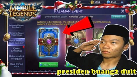Presiden Buka Buku 2000 Diamond !!! Mobile Legend