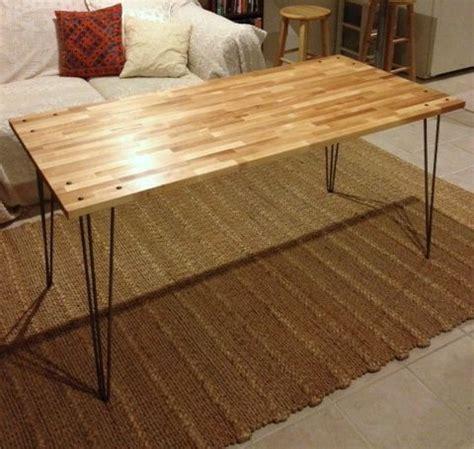 desk ikea gerton tabletop  hairpin legs