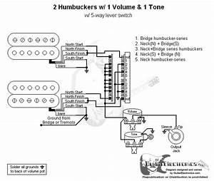 Guitar Wiring Diagram Two Humbuckers 1 Volume 1 Tone : 2 humbuckers 5 way lever switch 1 volume 1 tone 05 ~ A.2002-acura-tl-radio.info Haus und Dekorationen