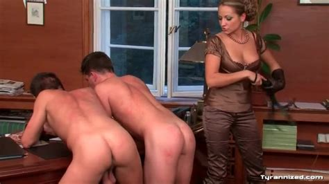 Hot Girl In Satin Spanking Guy Asses In Office Hardcore Porn