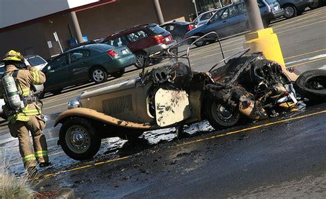 fire destroys mans beloved kit car  columbian