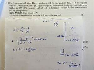 Sicherheitsfaktor Berechnen : spannung durchmesser stab berechnen nanolounge ~ Themetempest.com Abrechnung