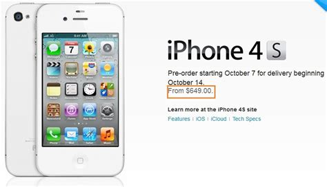 iphone 4s value apple iphone 4s unlocked prices start from 649 gadgetian