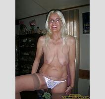 White Haired Amateur Granny Posing In Sexy Xxx Dessert Picture