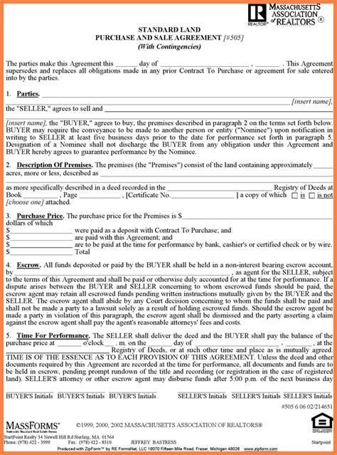 sale  owner purchase agreement form purchase