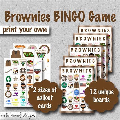 Print Your Own Badge Buddies Getting Started Brownies Bingo Print Your Own Bingo