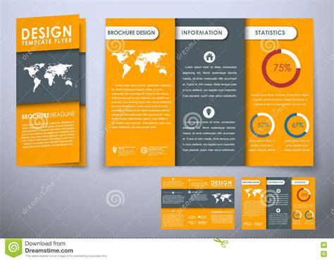 Template Folding Brochure Design Style Material Template Folding Brochure Design Style Material