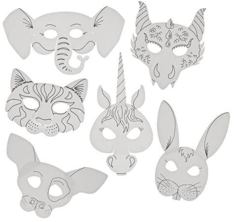 tiermasken aus papier  motive inkl gummis opitec